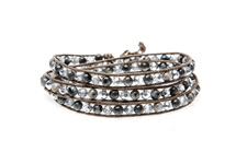 "Wickelarmband Wrap Armband ""Glam Casual New York"" Grau"
