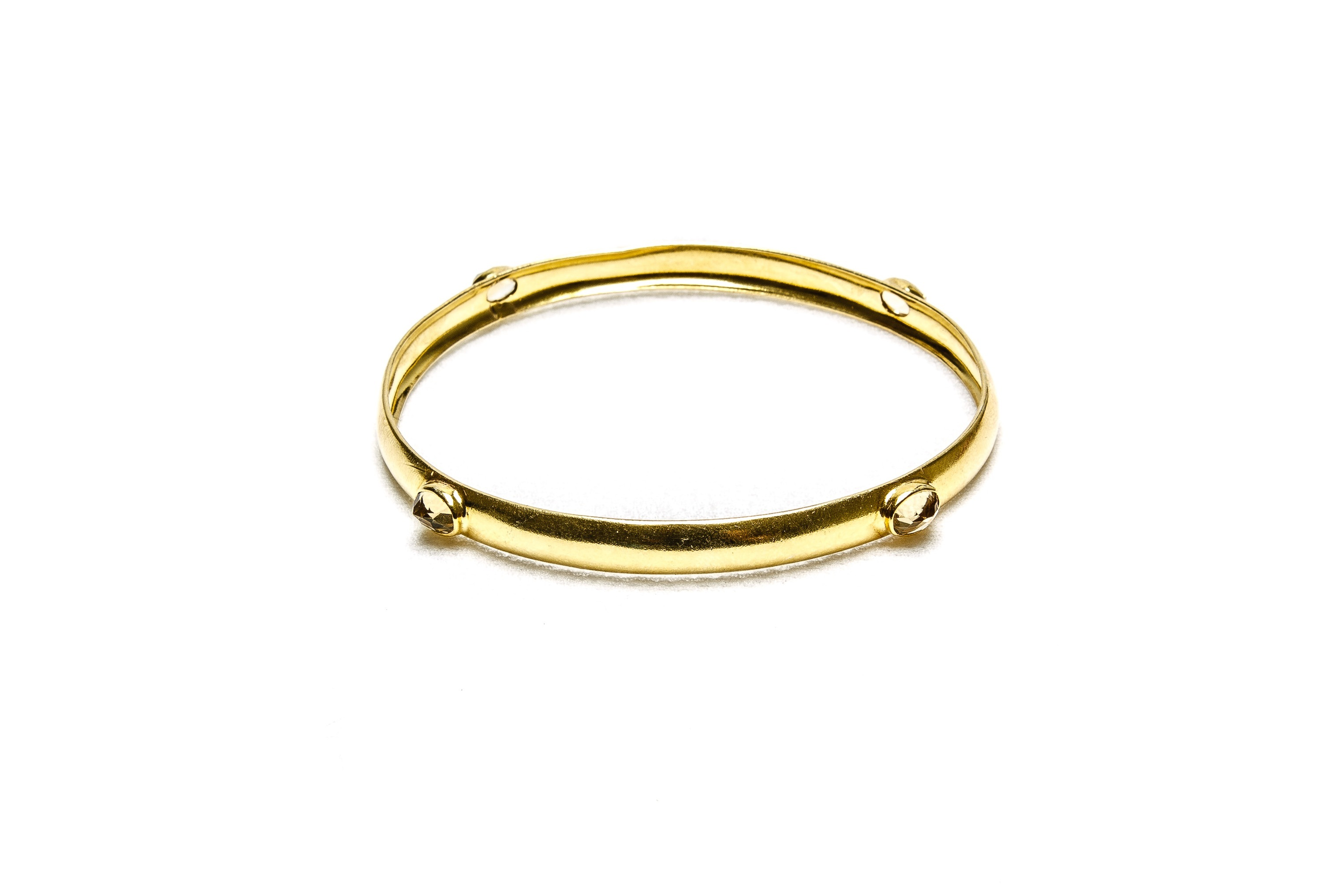 "Armreif Silber vergoldet mit Citrin ""Golden Bangle"""