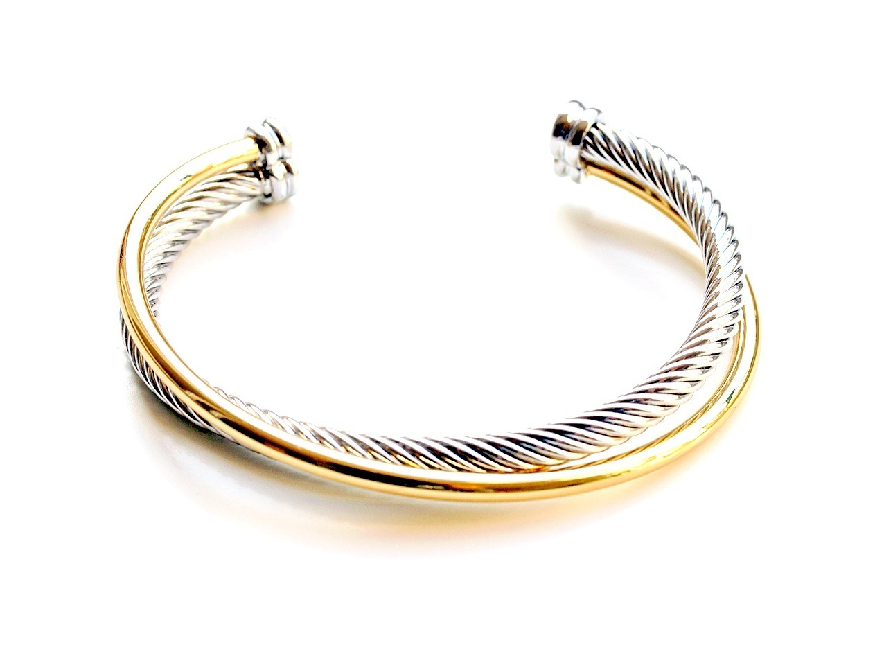 Gold silber armband