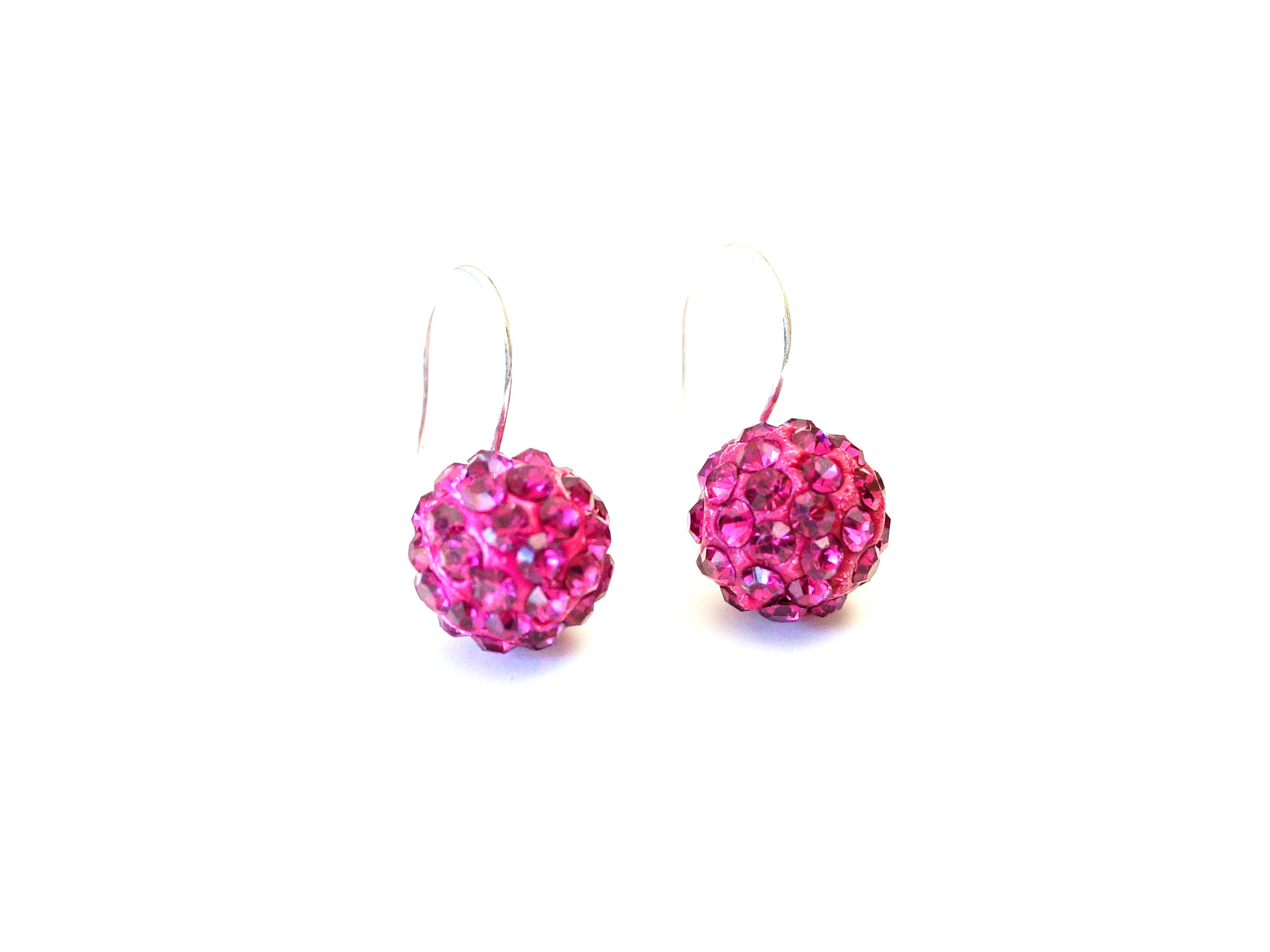 "Ohrring ""Chrystal Ball"" pink"