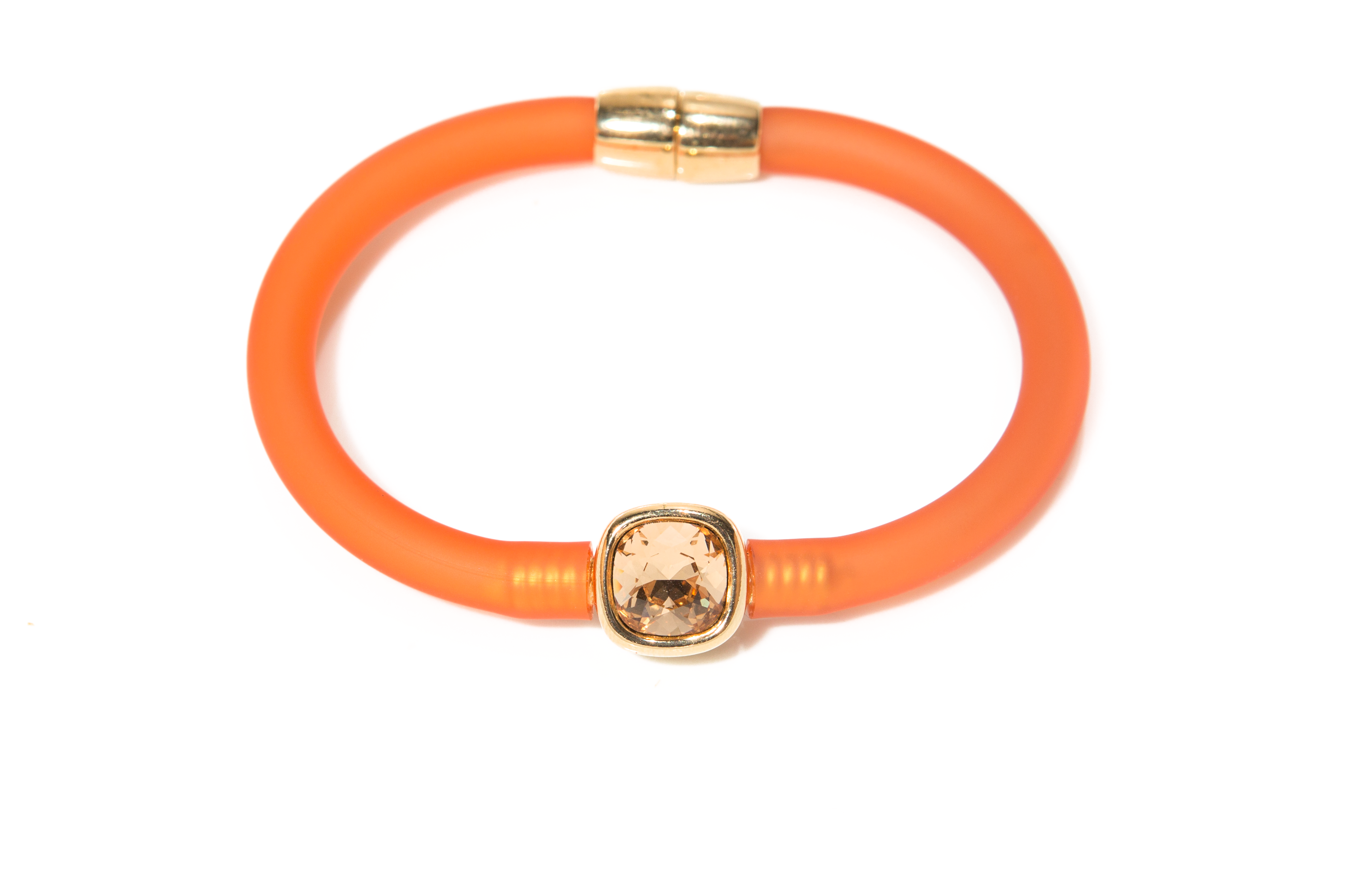 "Kunststoffarmband orange mit Swarovskystein orange ""Shining orange"""